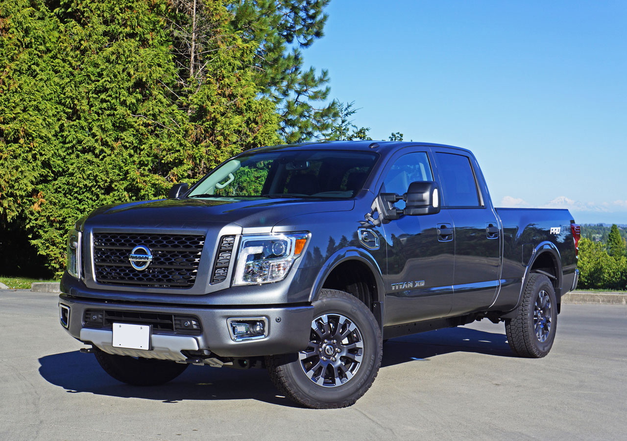 2016 nissan titan xd crew cab pro 4x diesel 4 4 road test review the car magazine. Black Bedroom Furniture Sets. Home Design Ideas