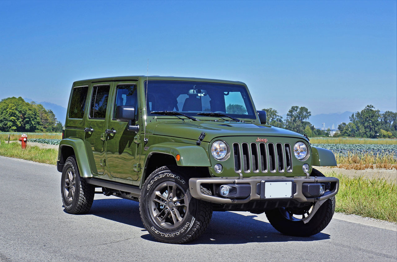 2016 jeep wrangler unlimited 75th anniversary edition road test review the car magazine. Black Bedroom Furniture Sets. Home Design Ideas