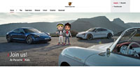 Porsche 4Kids website