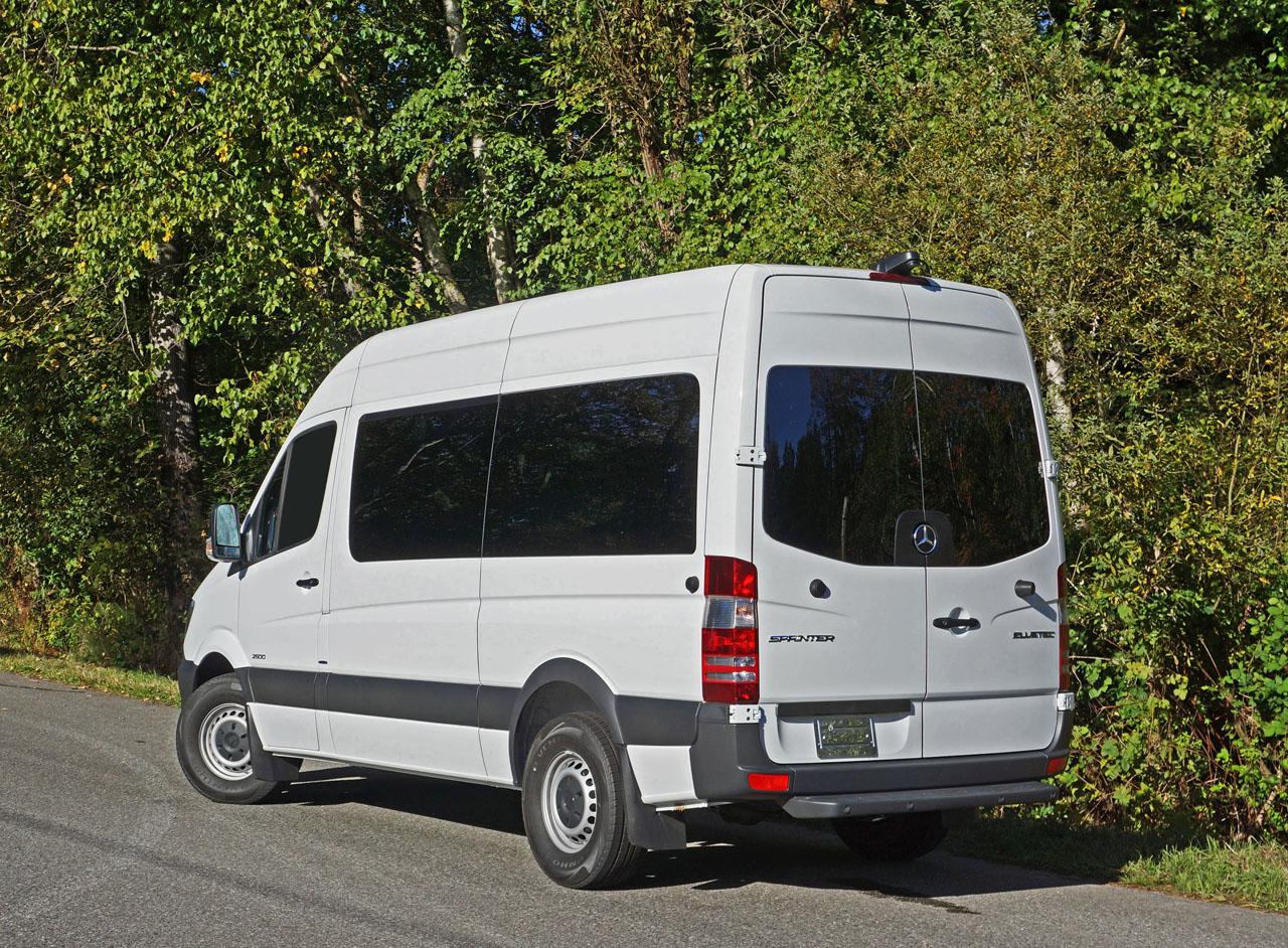 passenger sprinter mercedes 2500 benz van road test much leasebusters